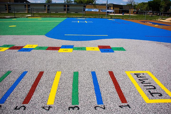 Children's Playground - Prairie Rubber Paving - Winnipeg Manitoba