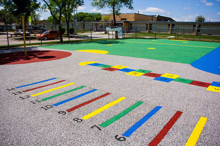 Children's Playground - Prairie Rubber Paving - Winnipeg Manitoba
