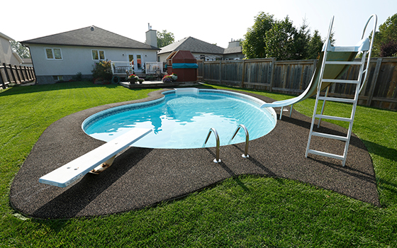 Backyard Pool - Prairie Rubber Paving - Winnipeg, Manitoba